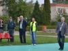 Renginyje dalyvavo VĮ Šiaulių regiono keliai vyr. spec. saugiam eismui A. Vaidonavičius (su liemene) F. V. Golcienės